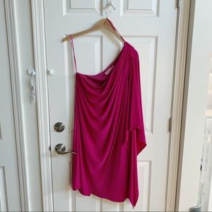 Eliza J Missy draped one shoulder dress, size 14